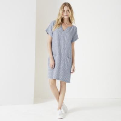 Linen Striped Dress