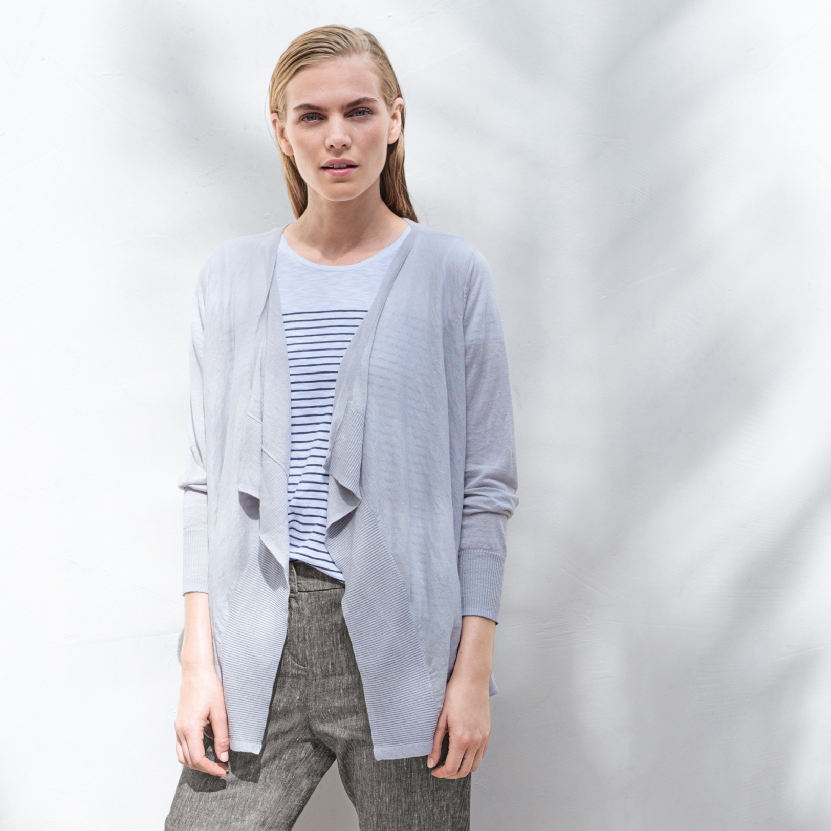Linen Waterfall Cardigan | Sweaters & Cardigans | The White Company US