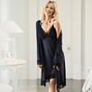 Semi Sheer Lace Nightgown          - Dark Navy