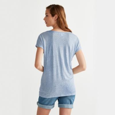 Linen T-Shirt - Pale Blue