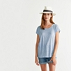 Linen T-Shirt - Pale Blue