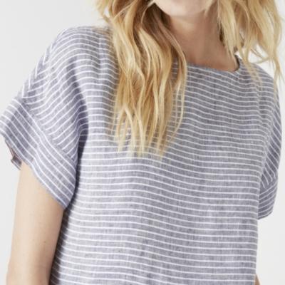 Linen Striped Top