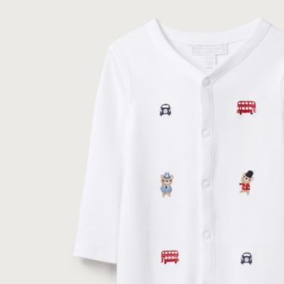London Bear Embroidered Sleepsuit