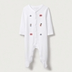 London Bear Embroidered Sleepsuit