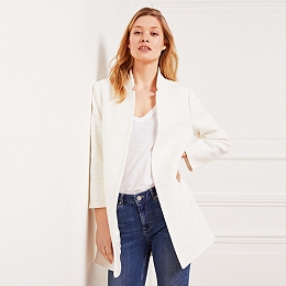 Cotton Longline Textured Jacket