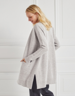 Merino Textured Stitch Cardigan