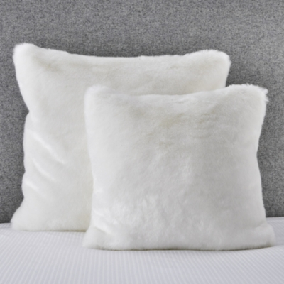 Supreme Faux Fur Cushion Cover - Alabaster