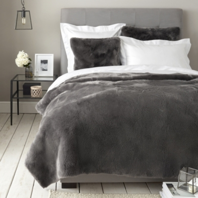 Supreme Faux Fur Throw & Cushion Covers - Fig