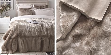 Supreme Faux Fur Throw & Cushion Covers - Mink