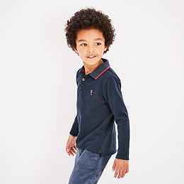 Pique Long Sleeved Polo Shirt (1-6yrs)