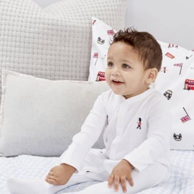 London Embroidered Sleepsuit