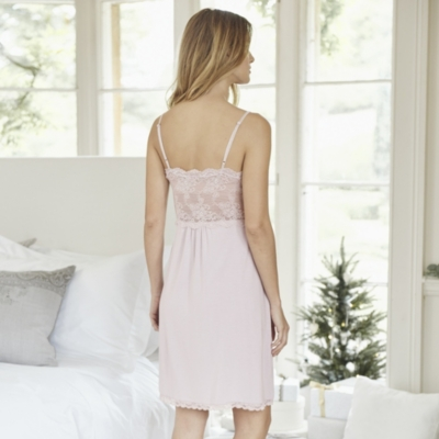 Lace Panel Night Gown