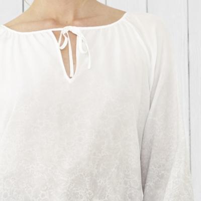 Lace Print Silk Blouse