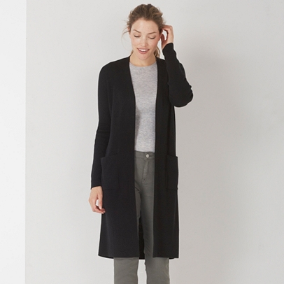 Long Ribbed Cardigan | The White Company UK
