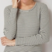 Ladder Rib Stripe Long Sleeve T-Shirt