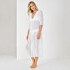 Long Silk Beach Cover Up - White