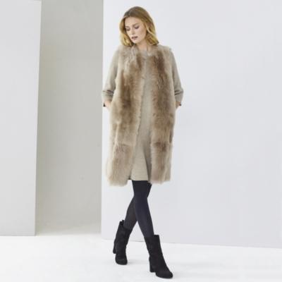 Longline Sheepskin Gilet