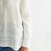 Linen Striped Hem Shirt