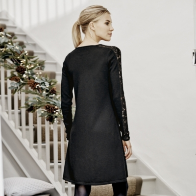 Lace Sleeve Knitted Dress