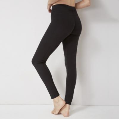 Cotton Blend Long Seam Detail Leggings