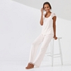 Lace Sleeve Jersey Pajama Set