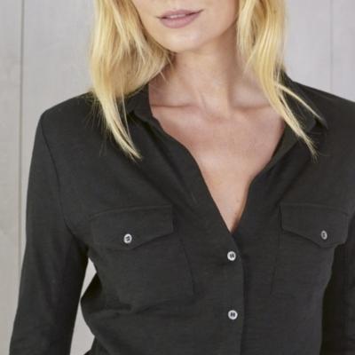 Long Sleeve Jersey Shirt - Black