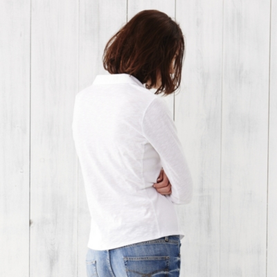 Long Sleeve Jersey Shirt - White