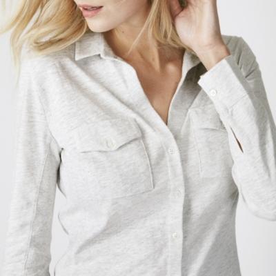 Long Sleeve Jersey Shirt - Cloud Marl