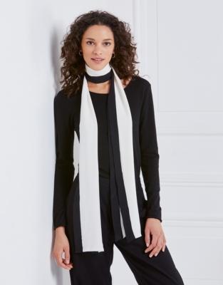 Silk Long Stripe Scarf