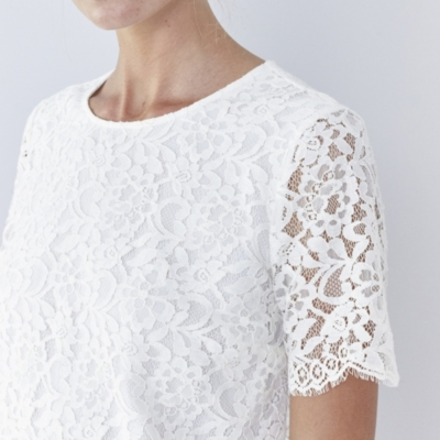 Lace Shell Top - Ivory