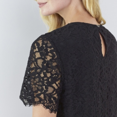 Lace Shell Top - Black