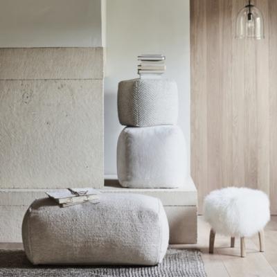 Luxury Shorthair Sheepskin Cube