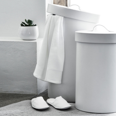 Leather Small Laundry Bin