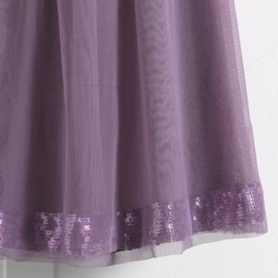 Layered Sequin Tutu Dress - White Pale Blue