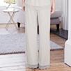 Lace Trim Pajama Bottoms