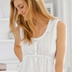 Lace Trim Dobby Night Gown