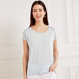 Linen T-Shirt - Chalk Blue