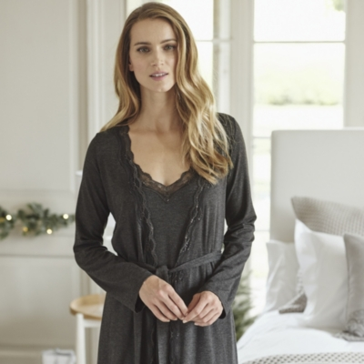 Lace Trim Night Gown