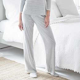 Lace Trim Stripe Pull Ons