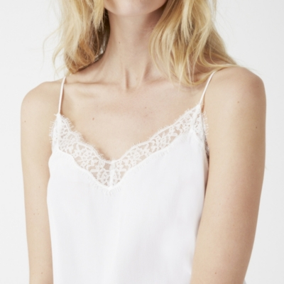 Silk Lace Trim Cami