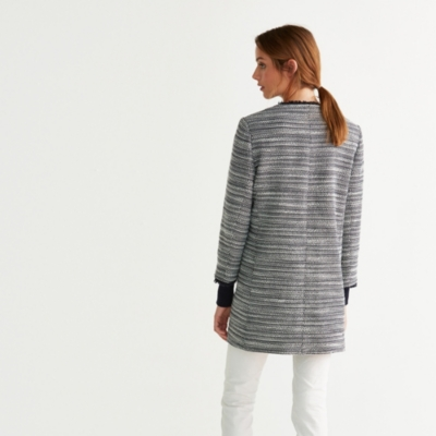 Longline Textured Boucle Jacket