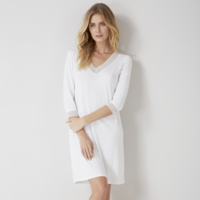 Lace Trim V-Neck Nightgown