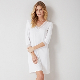 Lace Trim V-Neck Night Gown