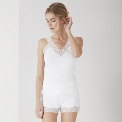 Jersey Vest & Brief Set - White