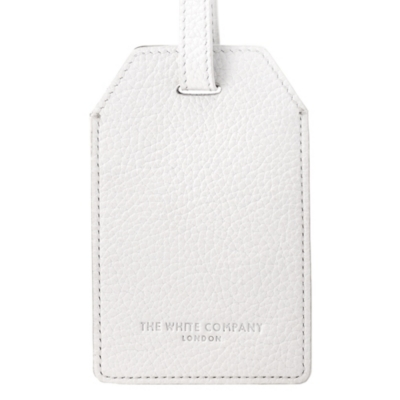 Leather Luggage Tag - White