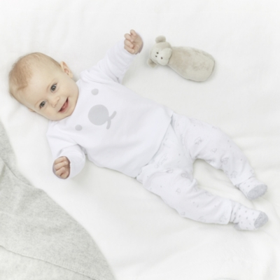 Lumi Polar Bear Baby Pajamas