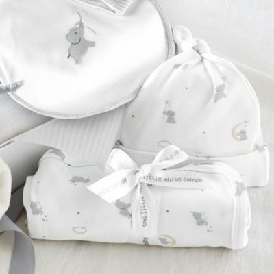 Luxury elephant baby gift set baby boys the white company uk white negle Image collections