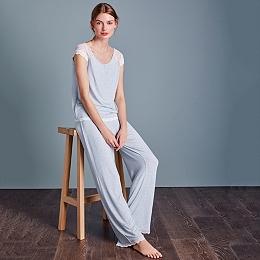 Lace Cap Sleeve Pyjama Set