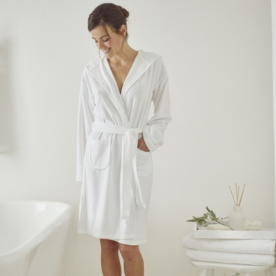 Lightweight Velour Robe - White