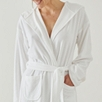 Lightweight Velour Robe - White